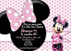 Free editable minnie mouse birthday invitations minnie mouse sba pink minnie mouse head silhouette birthday invitation filmwisefo
