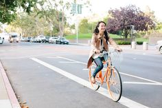 22 Chic Bikers Zipping In S.F. #refinery29  http://www.refinery29.com/biker-style#slide21  Levi's Plaza: Mona Zhao, an IT consultant, zips by us!