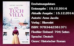 """Leserattes Bücherwelt: [Rezension] """" Die Tuchvilla """" Anne Jacobs"""