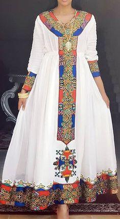 Zulu Traditional Attire, Ethiopian Traditional Dress, Traditional Dresses, African Wedding Attire, African Attire, African Dress, Ethiopian Wedding Dress, Ethiopian Dress, Habesha Kemis