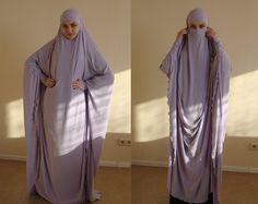 Transformer Lilac Khimar Maxi dress, Transformer Iris hijab, Purpal nikab,traditional hijab, ready to wear hijab, prayer Dress, Maxi Burqa