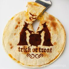 Hungry Happenings: Use a stencil to make quesadillas for your Halloween party.