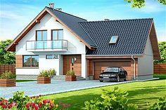 Gotowe projekty domów - gwarancja najniższej ceny - EXTRADOM My Home Design, Modern House Design, Dormer Bungalow, Black House Exterior, Bungalow House Design, Forest House, House Extensions, Design Case, Home Fashion