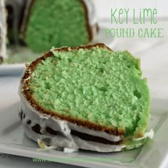 """Key Lime Pound Cake - OK then! Definitely a summer """"gotta try this"""" recipe. I love the flavor of key limes so it's important to use the real thing and not replace with generic limes. And would you believe I don't own a bundt pan? Great excuse to buy one! ;-)"""
