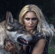 Fantasy Images, Fantasy Art, Wolves And Women, Wolf, Warrior Girl, Art Music, Beauty And The Beast, Character Inspiration, Portrait Photography