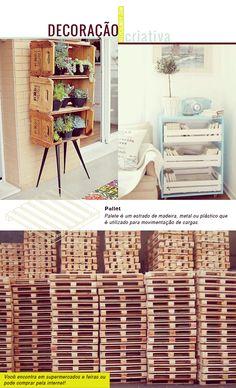 Decoração criativa: Paletes e caixotes de feira | KeepCalmDIY