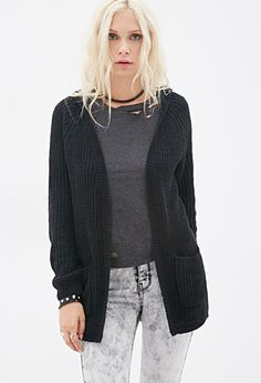 Hooded Chenille Cardigan | FOREVER21 - 2000117809