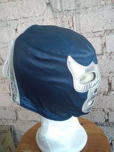 Máscara De Lucha Libre Profesional Modelo Blue Demon - $ 2,800.00 en MercadoLibre
