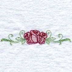 Delicately Filled Roses Embroidery Designs