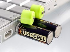 The USBCELL AA Rechargable Battery are just like any standard NiMH 1.2V 1300 mAh rechargeable AA battery. However, the tops of the battery can be removed to reveal a USB connector. Plug the battery into any USB charging port and it charges fully within 5 hours.
