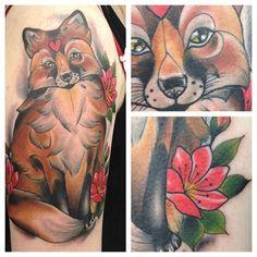 Fox Tattoo by Victoria Savage