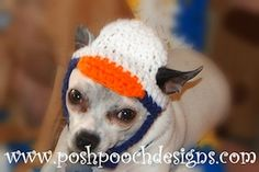 Duck Hat for Dogs - $3.99 by Sara Sach of Posh Pooch Designs / Ducks - Animal Crochet Pattern Round Up - Rebeckah's Treasures