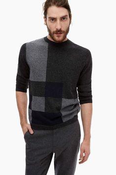 Fine Block-Patterned Sweater - Urban Jazz | Adolfo Dominguez shop online