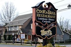 Enjoy the food and the entertainment during a murder mystery dinner at the Cock 'n Bull at Peddler's Village in Lahaska, PA.