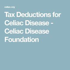 Tax Deductions for Celiac Disease - Celiac Disease Foundation
