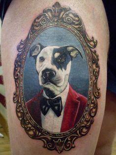 Dog portrait tattoo