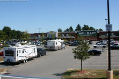 RV parking is quite a familiar sight in Walmart parking lots. photo by Lynnette at TheFunTimesGuide.com