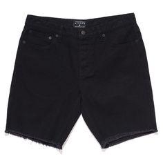 Afends Shorts Stock Plain Cut Off Denim Black Walkshorts Skate Surf Shorts | snapchat @ http://ift.tt/2izonFx