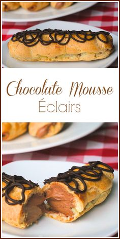 These Chocolate Mousse Eclairs are not nearly as intimidating to prepare as some may think and give the opportunity to hone two essential dessert skills; making choux pastry and preparing a creamy chocolate mousse.