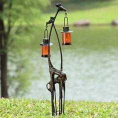 Giraffe outdoor lantern by Wildlife Wonders