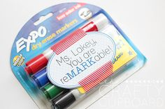 Seeing as how this is Teacher Appreciation Week, I thought it would be nice to slip a little goodie into my daughter's backpack every day for her to give to her teacher. This teacher appreciation gift is also practical… I'm pretty sure dry erase markers are used up pretty quick in the educational realm.  A small, thoughtful, and useful gift. That's what I'm aiming for every day this week (chocolate to come… I'm [...]