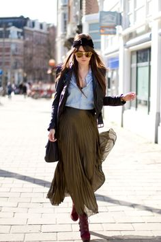 """Style Scrapbook: LOOK OF THE DAY """"GOLD SKIRT"""""""