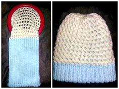 Reversible Hat - Two tones and two stitches makes for a really cool looking hat. Here is a simple free loom hat pattern by Bonny Pomerleau-Paradis Loom Knitting Stitches, Knifty Knitter, Loom Knitting Projects, Hand Knitting, Knitting Tutorials, Yarn Projects, Knitting Machine, Vintage Knitting, Knitting Needles