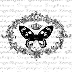 French Text Script Writing French Butterfly by graphiquesepia Framed Fabric, Framed Wall Art, Wall Art Prints, Framed Prints, French Typography, Foto Transfer, Collage Sheet, Digital Collage, Illustrations