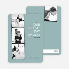 Photo Strip Save the Date Cards from Paper Culture