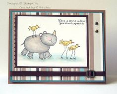 Animal Friends using Stampin Up Zoofari retired stamp set.