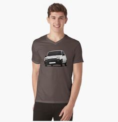 Renault 5 (1971 - 1985) t-shirt.  #renault #renault5 #renaultr5 #automobile #france #french #shirt #classiccars #illustration #carillustration #70s #80s #car #white #redbubble