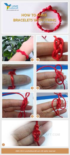 it is so easy to make a bracelet