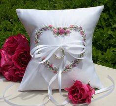 <3<3<3 heart on ring-pillow