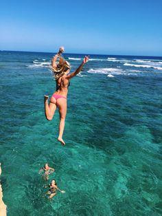 Jumping... in Hawaii...