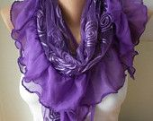 fatwoman-Lace scarves - on Etsy $18.90