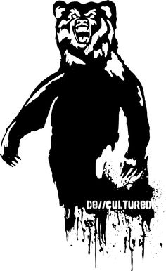 De\\Cultured - Bear -  Urban Design of a Bear using Stencil Graffiti Style Artwork US Store for Bear Design : http://decultured.spreadshirt.com/de-cultured-bear-I1000229156 Facebook Page : https://www.facebook.com/Decultured Twitter Page : https://twitter.com/DeCultured_Co