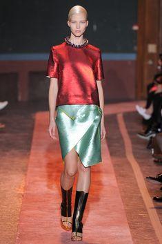 Cédric Charlier Spring 2014 Ready-to-Wear Fashion Show - Sasha Luss (Elite)