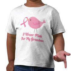 I Wear Pink For My Grandma Tee Shirts