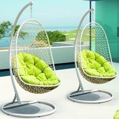 I heart these - I just with they were spun fiberglass like our patio table set rather than rattan...