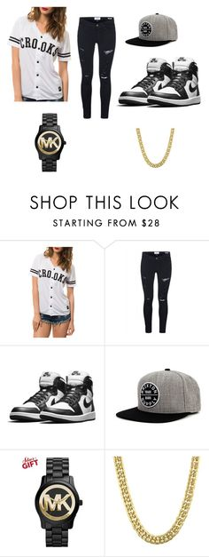 """""""Me Asf"""" by asvp-torri ❤ liked on Polyvore featuring Crooks & Castles, Frame Denim, Brixton, Michael Kors and 1928"""