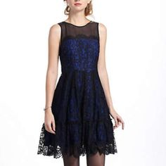 Anthropologie Sapphire Lace Dress $66 @FlirtyFinds If you aren't already on #Poshmark, sign up with code HRTLC for $5 credit. #designer #fashion #shoes #jewelry Host closet - @Design Hamptons