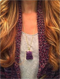 Gorgeous beautiful jewelry by Elladolce - Gold Dipped Amethyst Cluster- accessories