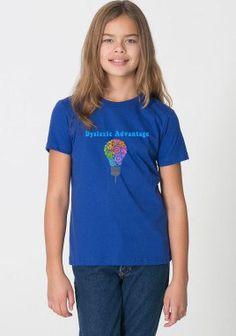 Dyslexic Advantage Youth T-Shirt (8-12 years) #dyslexia #dyslexicadv