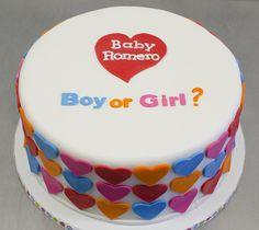 @Jenifer Romero - Baby Gender Reveal ...for baby #2? lol, it says Romero on the cake!