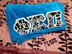 Comfy Greek Letter Blanket