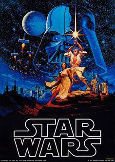 Le tout premier poster de Star Wars par les frères Hildebrandt, 1976, avant la sortie du film