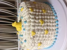 Ducky cake for baby shower