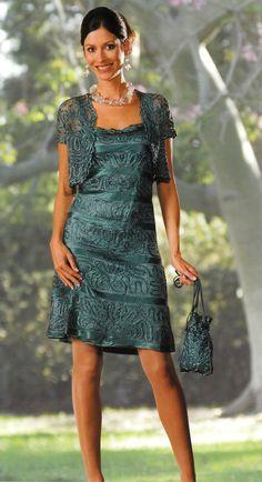 Soulmates C7185 Crochet Beaded Silk 2 pc Short Formal Dress