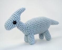 Parasaurolophus - amigurumi dinosaur crochet pattern
