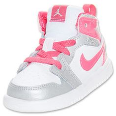 Heroes are born on the hardwood and off. The Jordan 1 Mid Flex Girls' Toddler Shoe brings new flavor to the old school with enhanced comfort features, while the retro colors and design lines salute the original. Made for future flyers, this comfortable shoe boasts a combination leather and synthetic upper, providing durability for active days off court and when learning the game.FEATURES:UPPER: Combination leather and synthetic   MIDSOLE: Cupsole enhances cushioning  OUTSOLE: Solid rubber…